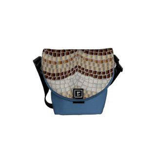 Beige Mosaik-Minibote-Tasche Kurier Taschen