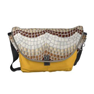 Beige Mosaik-mittlere Bote-Tasche Kurier Taschen