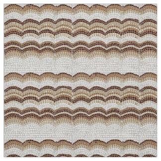Beige Mosaik-Polyester-Webart-Gewebe Stoff