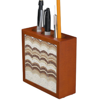 Beige Mosaik-Schreibtisch-Organisator Stifthalter