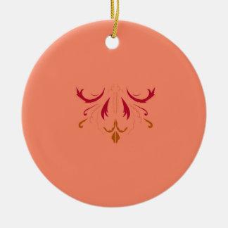 Beige Rot ENTWURF Mandala Keramik Ornament