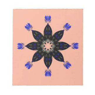 Beige schwarze Mandala Notizblock