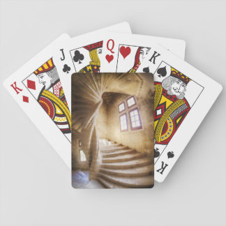 Beige spirl Treppenhaus, Frankreich Spielkarten