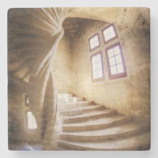 Beige spirl Treppenhaus, Frankreich Steinuntersetzer