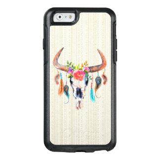 Beige Stammes- und Stier-Schädel mit Hörnern OtterBox iPhone 6/6s Hülle