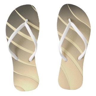 Beige Streifen Flip Flops