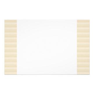 Beige TAN-Farbstreifen-Muster Personalisiertes Büropapier