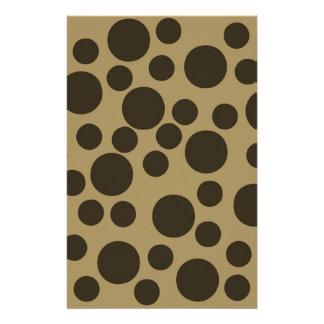 Beige TAN modernes Punkt-Muster Browns Individuelle Büropapiere