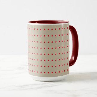 Beige und Rost-Tupfen-Muster Tasse