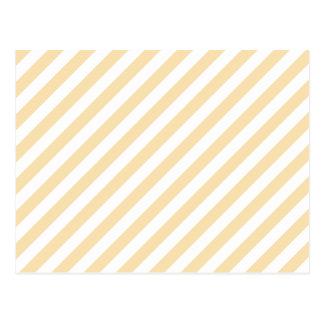 Beige und weiße diagonale Streifen Postkarte