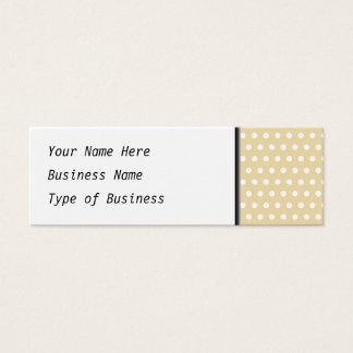 Beige und weißes Tupfen-Muster. Spotty. Mini Visitenkarte