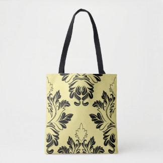 Beige viktorianische Entwurfs-Druck-Taschen-Tasche Tasche