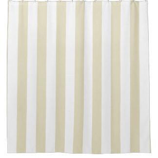 Beige weißer vertikaler Streifen NL #1 Duschvorhang