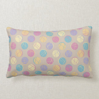 Beiger Colorful confetti dots modern rück pillow