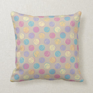 Beiger Colorful confetti dots modern rück pillow Zierkissen
