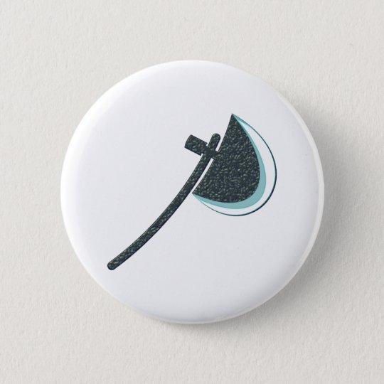 Beil Axt axe Runder Button 5,1 Cm