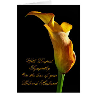 Beileid auf Verlust des Ehemanns Grußkarte