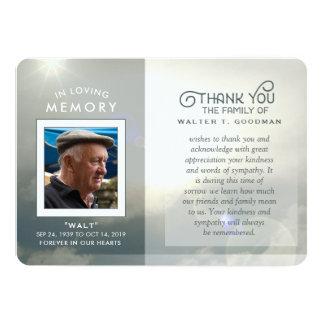 Beileid danken Ihnen die friedlichen blauen u. 12,7 X 17,8 Cm Einladungskarte