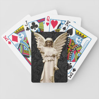 Beileids-Friedhof Erinnerungsleid-gotischer Engel Bicycle Spielkarten