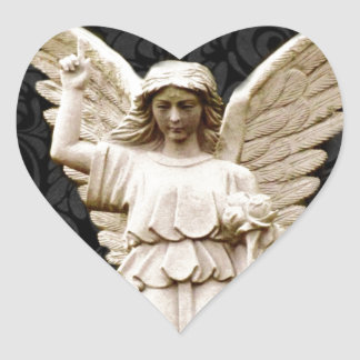 Beileids-Friedhof Erinnerungsleid-gotischer Engel Herz-Aufkleber