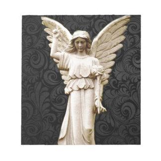 Beileids-Friedhof Erinnerungsleid-gotischer Engel Notizblock