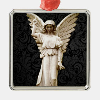 Beileids-Friedhof Erinnerungsleid-gotischer Engel Silbernes Ornament
