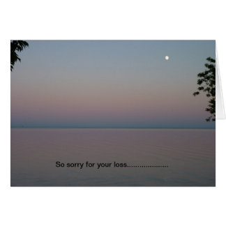 Beileids-Karte, rosa Sonnenuntergang