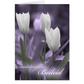 Beileids-Karten-Tulpen MITs Sympathie deutsche Grußkarte
