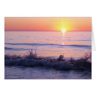 Beileids-Sonnenuntergang-Wellen Grußkarte