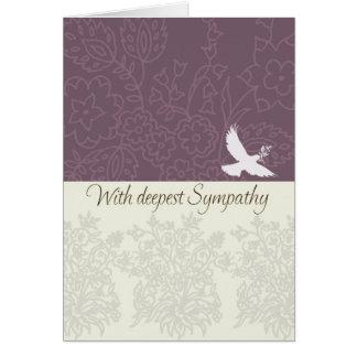 Beileidskarte mit Taube, tiefstes Beileid Karte