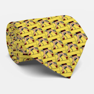Bein-Kunst-Deko-Frauen-Windhund Whippet Hund R Krawatte