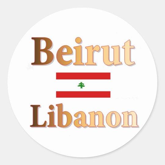 Beirut Runder Aufkleber
