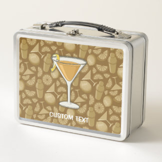 Beiwagen-Cocktail Metall Brotdose