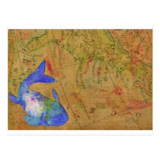 Bekannte Meere Postkarte