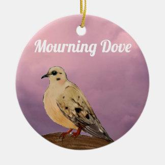 Beklagentauben-Hinterhof-Vogel auf Niederlassung Keramik Ornament