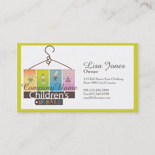 Bekleidungsgeschäft Visitenkarten Der Kinder Visitenkarte