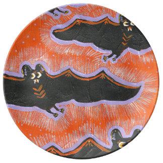 Bekloppte Flug-Halloween-Porzellan-Platte Porzellanteller