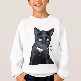 Bela das schwarze Katzen-Foto Sweatshirt