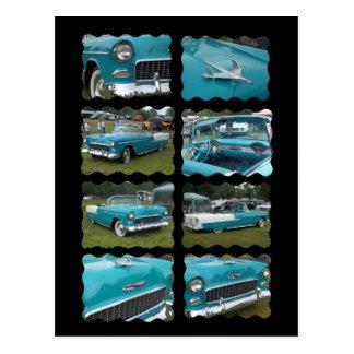 belair Collagentouquoise 1955 und -WEISS Postkarte