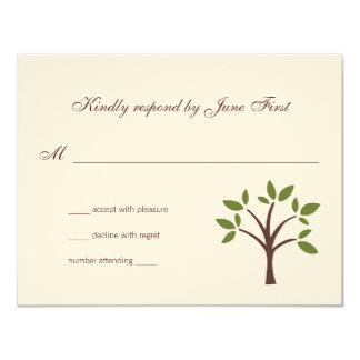 Belaubte Baum-Hochzeits-Antwort Karte