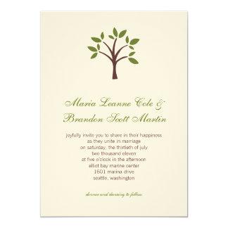 Belaubte Baum-Hochzeits-Einladung Karte