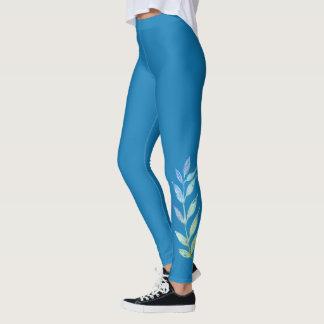 Belaubter mit Beinen versehener Entwurf Leggings