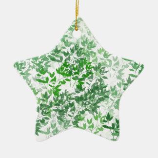 Belaubter Muster-Entwurf Keramik Stern-Ornament
