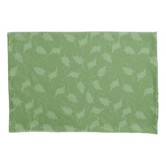 Belaubtes Grün abgetönter Kissenbezug