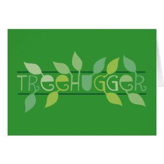 Belaubtes Treehugger Karte