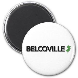 Belcoville, New-Jersey Runder Magnet 5,7 Cm