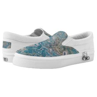 Beleg auf Schuh, Öl-glattes Slip-On Sneaker