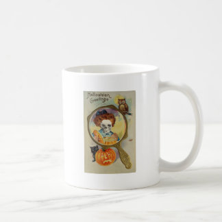 Beleuchten der Jack O Laterne (Vintages Halloween Kaffeetasse