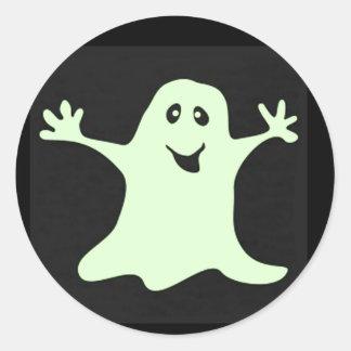 Beleuchten Sie die Weisen-Halloween-Aufkleber Runder Aufkleber