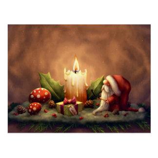 Beleuchten Sie eine Kerze Postkarte